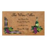 Vinho ou uvas modelo cartoes de visitas