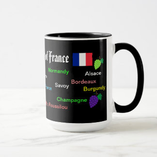 Vinho Regions* da caneca de France