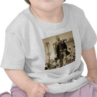 Vintage 1905 do cartão de Teddy Roosevelt Stereovi Tshirts
