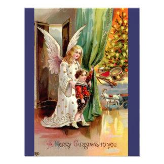 Vintage 1908 que cumprimenta o Cartão-Anjo, crianç Convite Personalizados