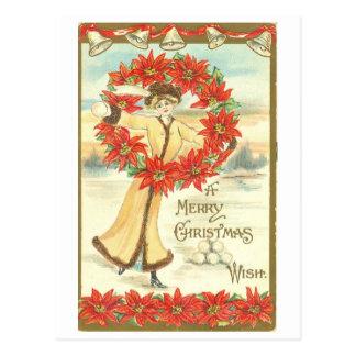 """Vintage 1911, cartão do """"Feliz Natal"""""""