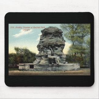 Vintage 1912 de Chicago Repro do parque de Garfiel Mouse Pad