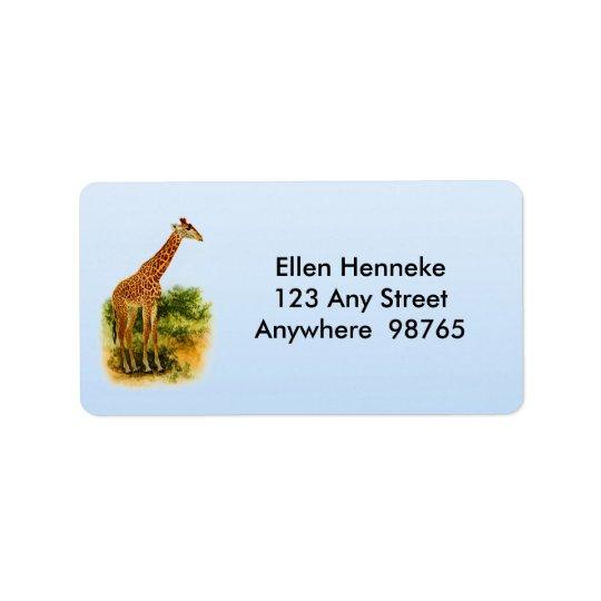 Vintage 1912 do girafa etiqueta de endereço