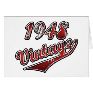 Vintage 1948 cartão comemorativo