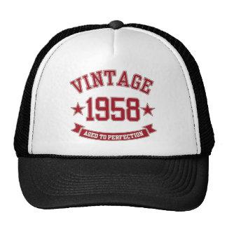 Vintage 1958 envelhecido à perfeição boné
