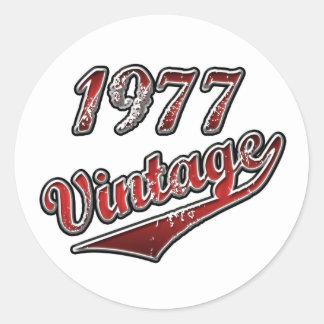 Vintage 1977 adesivo