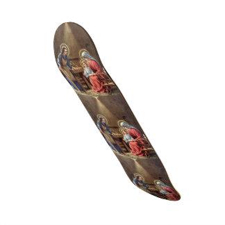 vintage a família santamente, Jesus Cristo, Josef, Skates