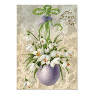 Vintage a páscoa da cruz do ovo da páscoa do convite 12.7 x 17.78cm