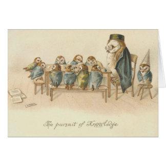 Vintage - a perseguição do conhecimento cartão comemorativo