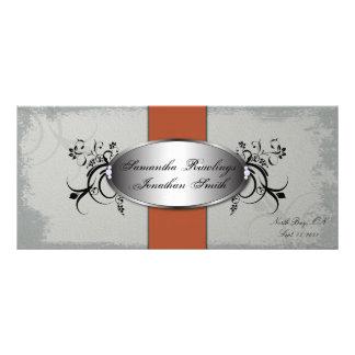 Vintage alaranjado cinzento elegante do programa d 10.16 x 22.86cm panfleto