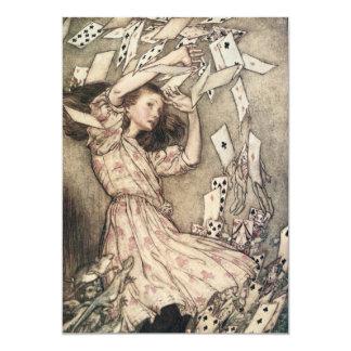 Vintage Alice na festa de aniversário da criança Convites Personalizado