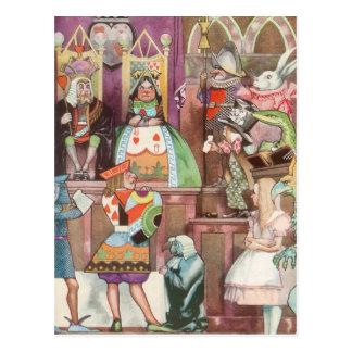 Vintage Alice no país das maravilhas, rainha dos Cartao Postal