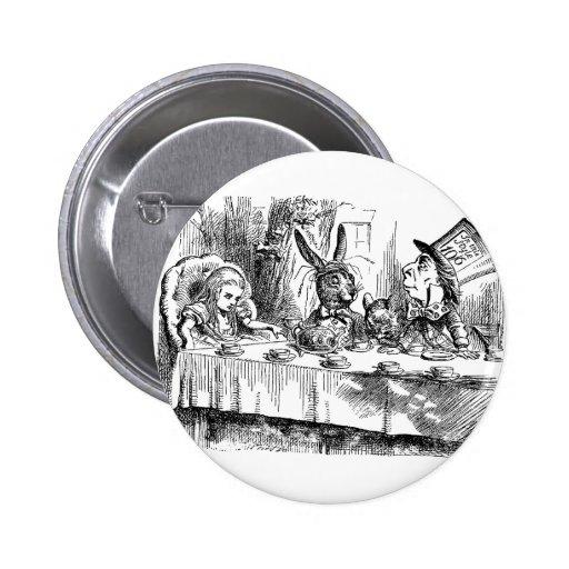 Vintage Alice no tea party louco do Hatter do país