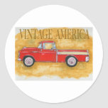 Vintage América Adesivos Em Formato Redondos