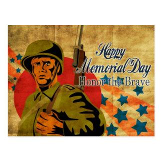 Vintage americano do soldado da segunda guerra cartão postal