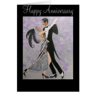 Vintage, amor intemporal, cartão do aniversário
