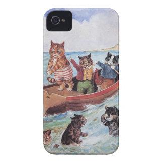 Vintage antropomórfico engraçado Wain dos gatos Capinhas iPhone 4