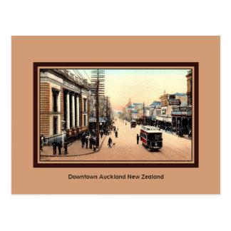 Vintage Auckland do centro Nova Zelândia Cartão Postal