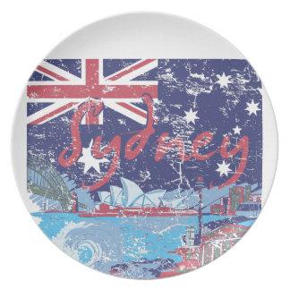 vintage Austrália de sydney Prato