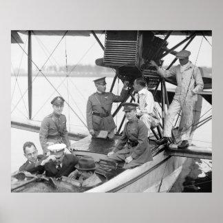 Vintage Avião, 1923 Pôster