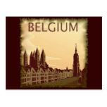 Vintage Bélgica Cartão Postal