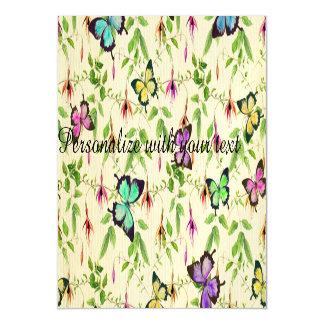 vintage, borboleta, floral, bonito, feminino,