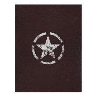 Vintage branco aliado da estrela dos E.U. Cartão Postal