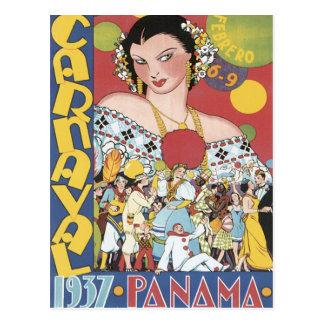 Vintage Carnaval Panamá 1937 Cartoes Postais