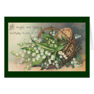 Vintage - cartão do feliz aniversario