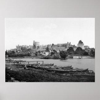 Vintage castelo de Inglaterra, Windsor, Berkshire, Pôster