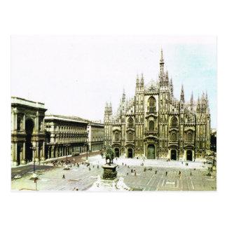 Vintage catedral de Italia, Milão Cartão Postal