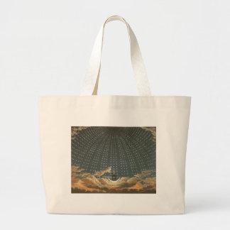 Vintage celestial, astronomia, rainha da noite sacola tote jumbo