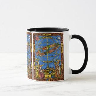 Vintage celestial, astrónomo Claudius Ptolemy Caneca