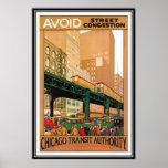 Vintage Chicago, EUA - Impressão