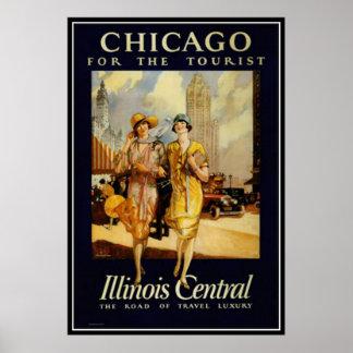 Vintage Chicago, EUA - Posteres