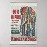Vintage: circo Barnum & Bailey - Pôsteres
