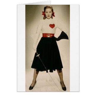 Vintage Colleen Townsend 1948 que cerca o cartão c