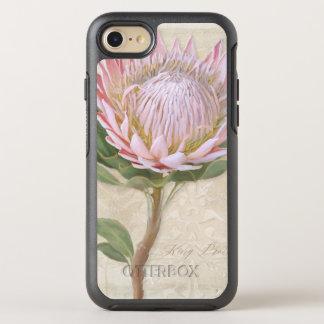 Vintage cor-de-rosa elegante pintado mão da flor capa para iPhone 8/7 OtterBox symmetry