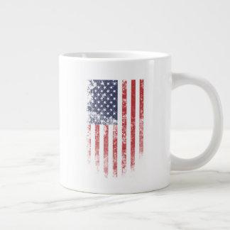 Vintage da bandeira americana - caneca enorme