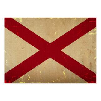 VINTAGE. da bandeira do estado de Alabama Modelo Cartoes De Visita