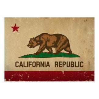 VINTAGE da bandeira do estado de Califórnia Modelo Cartão De Visita