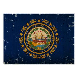 VINTAGE da bandeira do estado de New Hampshire Cartão De Visita Grande