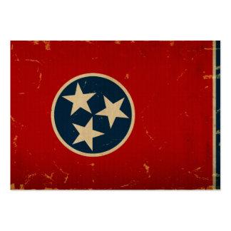 VINTAGE da bandeira do estado de Tennessee Modelos Cartao De Visita