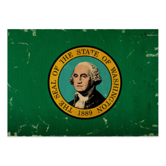 VINTAGE da bandeira do estado de Washington Modelos Cartão De Visita