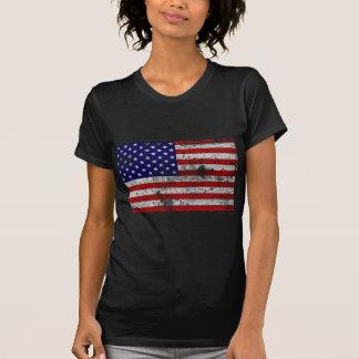 Vintage da bandeira dos EUA Camiseta