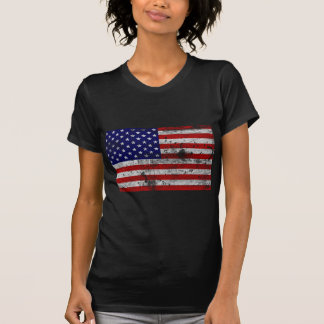 Vintage da bandeira dos EUA T-shirt