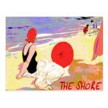 Vintage da costa do jérsei cartão postal