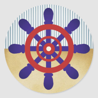 Vintage da etiqueta da roda do marinheiro