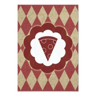 vintage da pizza convite 8.89 x 12.7cm