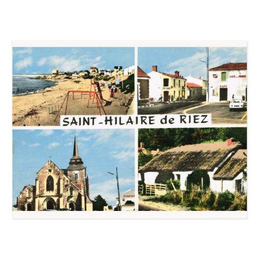 Vintage da réplica, Rua Hilário de Riez Cartão Postal